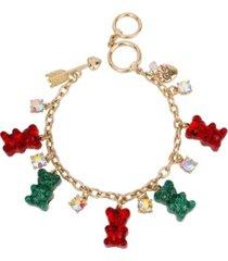 betsey johnson festive gummy bear charm bracelet
