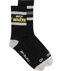label off mid-length sport socks