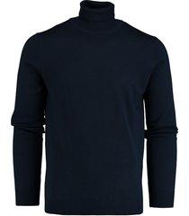 bos bright blue niels roll neck pullover flat 19305ni26bo/290 navy
