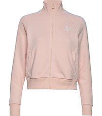 classics t7 track jkt, ft sweat-shirt trui roze puma