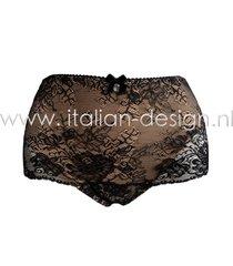 ambra lingerie slips dark/deep nude slip alto zwart/bruin 1604