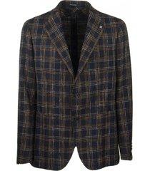 tagliatore two-button plaid jacket blazer
