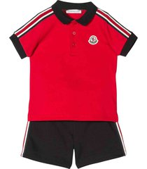 moncler complete t-shirt and shorts