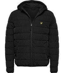 lightweight puffer jacket gevoerd jack zwart lyle & scott