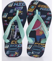 chinelo havaianas infantil kids cartoon