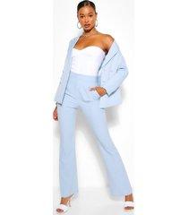 getailleerde broek met wijde pijpen, pastelblauw