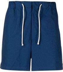 jil sander logo-patch drawstring shorts