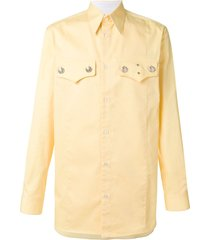 calvin klein 205w39nyc straight fit saloon shirt - yellow