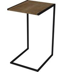 mesa lateral vermont artesano marrom/preta