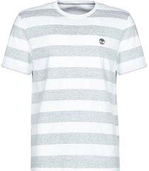 t-shirt korte mouw timberland ss piscataquog river melange stripe tshirt