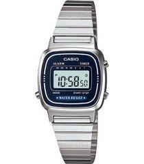 relógio casio vintage digital la670wa feminino
