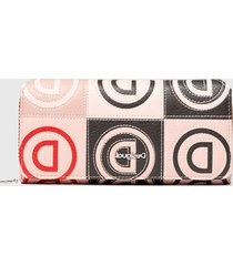 billetera logo patch  multicolor desigual