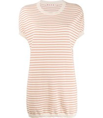 marni striped tunic - neutrals