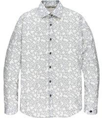 cast iron csi206626 7155 long sleeve shirt print on stretch poplin beige