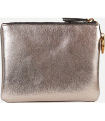 kurt geiger london women's triple pouch set - gold comb