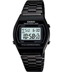 reloj casio b640wb_1a negro acero inoxidable