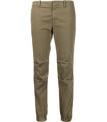 nili lotan low-waist ankle-zip trousers - green