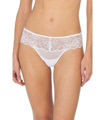 natori intimates muse thong, women's, 100% cotton, size l