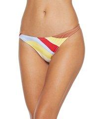 solid & striped bikini bottoms