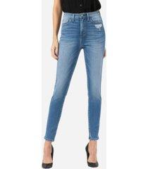 vervet women's super high rise skinny ankle jeans