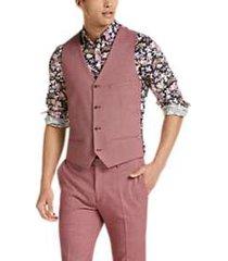 paisley & gray slim fit suit separates vest raspberry