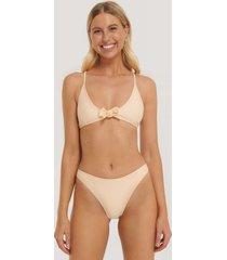 na-kd swimwear högt skuren bikinitrosa - orange