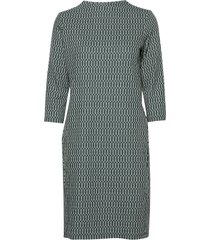 dress knitted fabric knälång klänning grön gerry weber edition