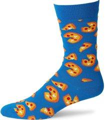 happy socks men's pizza-print socks - blue - size 9-11