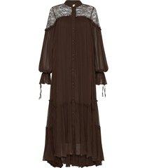 veil smock maxi dress