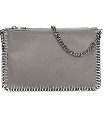 stella mccartney purse grey polyamide clutch
