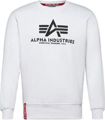 basic sweater sweat-shirt tröja vit alpha industries