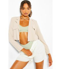 pocket tailored crop blazer