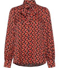 blouse long-sleeve blouse lange mouwen rood taifun