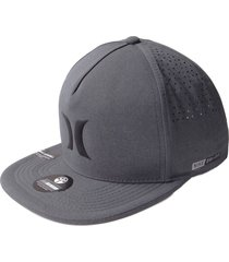 gorra hurley drifit icon hats snap in-gris oscuro