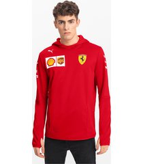ferrari team tech fleece hooded herenjack, rood/aucun, maat xxl | puma