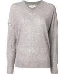 isabel marant étoile v-neck slouchy sweater - grey