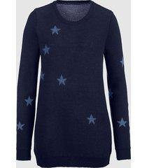 tröja med oregelbundet stjärnmönster dress in mörkblå