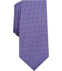 alfani men's slim geometric tie, created for macy's