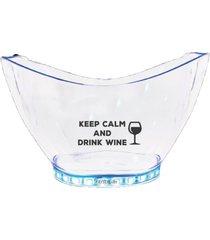 champanheira com led personalizada keep calm - incolor - dafiti