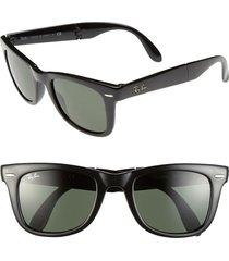 ray-ban standard 50mm folding wayfarer sunglasses in black at nordstrom