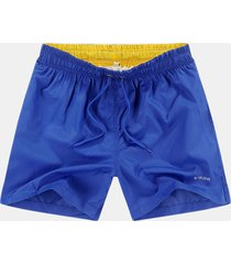 pantaloncini da jogging sciolti casual da uomo in vita elasticizzata ad asciugatura rapida con coulisse in vita elastica