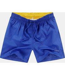 pantaloncini da spiaggia casual da uomo elasticizzati ad asciugatura rapida in vita con coulisse