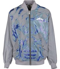 heron preston multicolor bomber jacket
