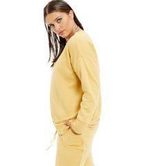 danielle bernstein plus size french terry sweatshirt, created for macy's