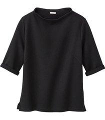 jersey shirt met korte mouwen van biologisch katoen, zwart 36/38