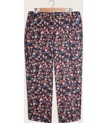 pantalón negro-multicolor patprimo