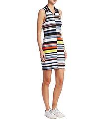 mason striped sleeveless knit dress