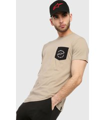 camiseta beige-negro alpinestars