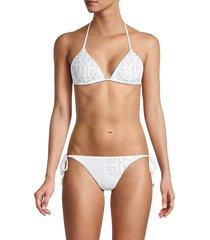 roberto cavalli women's 2-piece print bikini set - tropical - size m