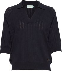 estee knit t-shirts & tops knitted t-shirts/tops blå morris lady